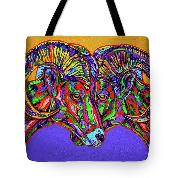 Bighorn Sheep Tote Bag by Derrick Higgins