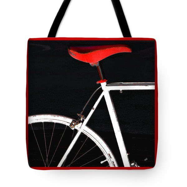 Bike In Black White And Red No 1 Tote Bag by Ben and Raisa Gertsberg