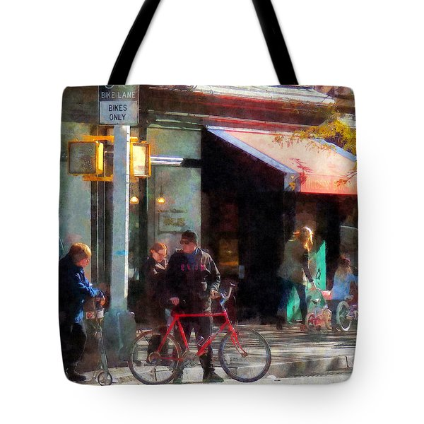 Bike Lane Tote Bag by Susan Savad