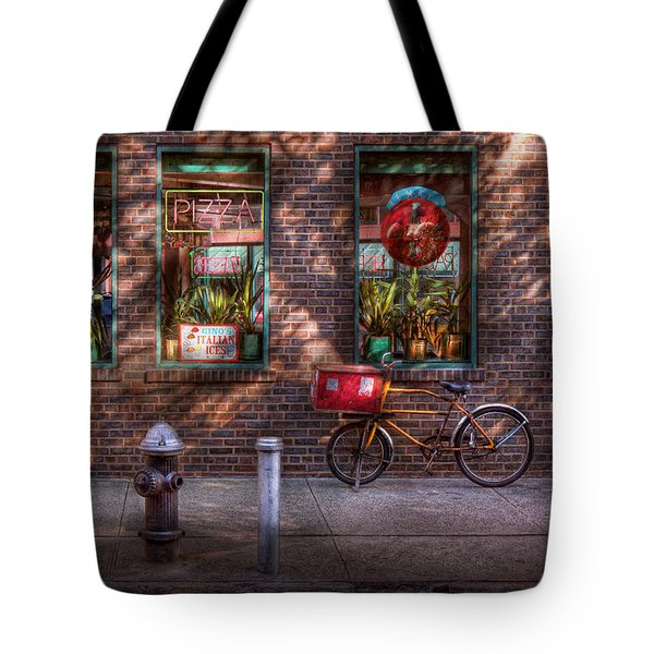 Bike - NY - Chelsea - The delivery bike Tote Bag by Mike Savad
