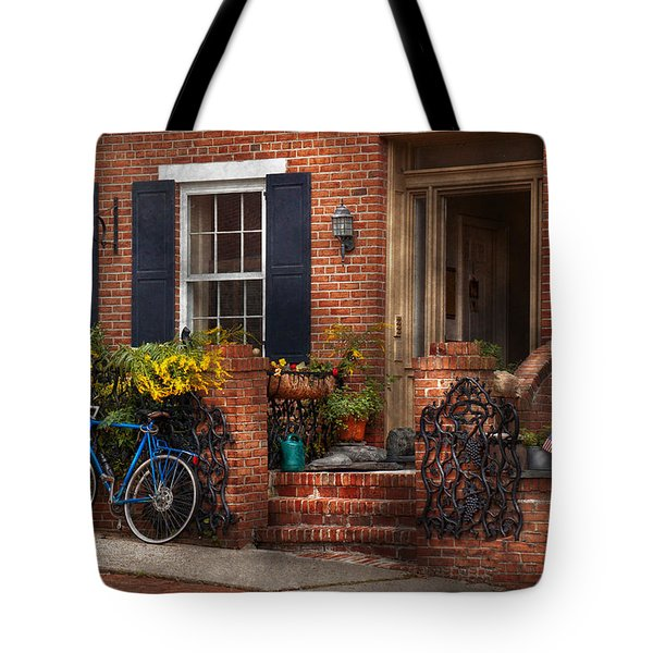 Bike - Waiting For A Ride Tote Bag by Mike Savad