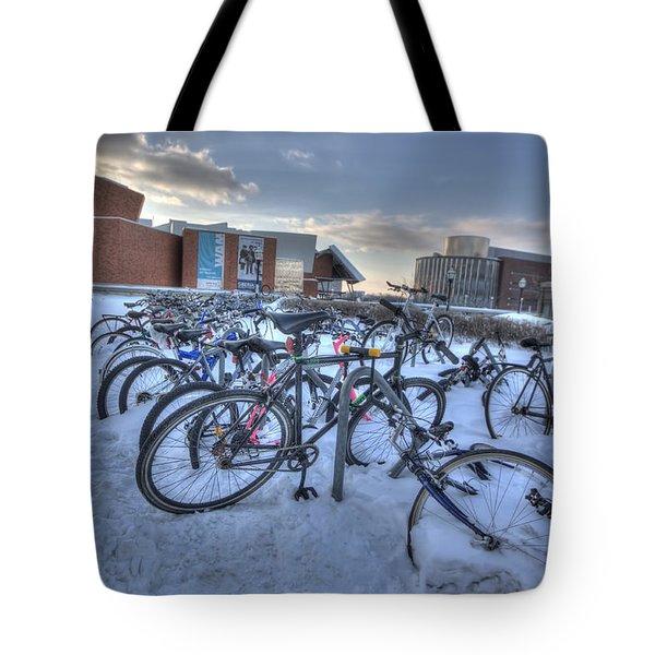 Bikes At University Of Minnesota  Tote Bag by Amanda Stadther