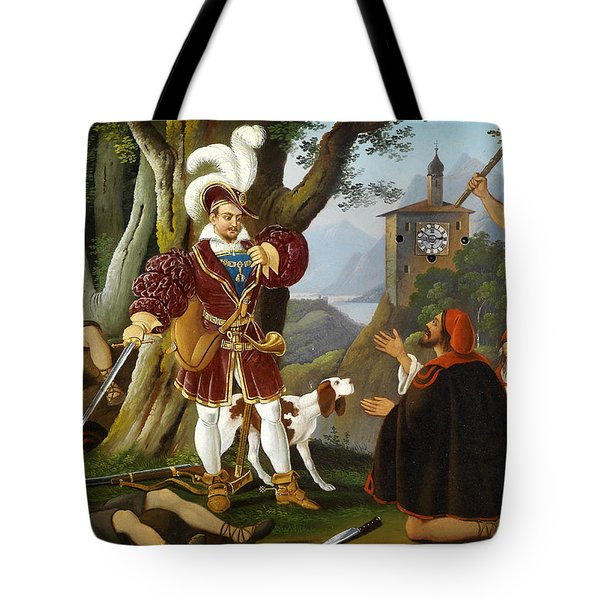 Bilderuhr Maximilian I Mit Den Raubern Tote Bag by MotionAge Designs