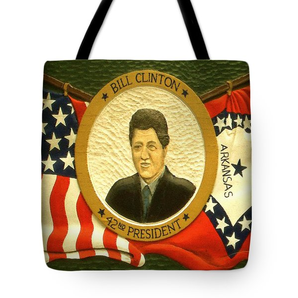 Bill Clinton 42nd American President Tote Bag by Peter Fine Art Gallery  - Paintings Photos Digital Art