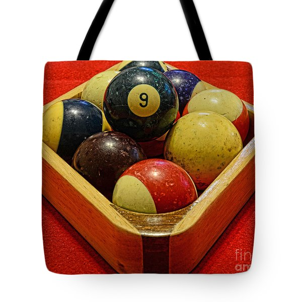 Billiards - 9 Ball - Pool Table - Nine Ball Tote Bag by Paul Ward