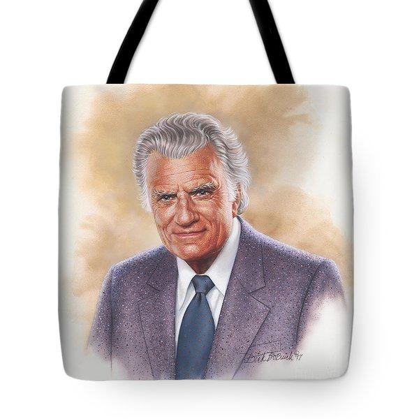 Billy Graham Evangelist Tote Bag by Dick Bobnick