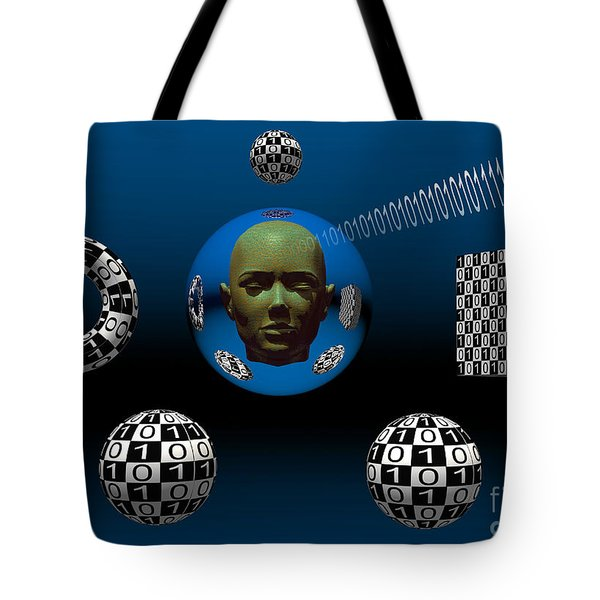 Binary Language, A Universal Means Tote Bag by Mark Stevenson