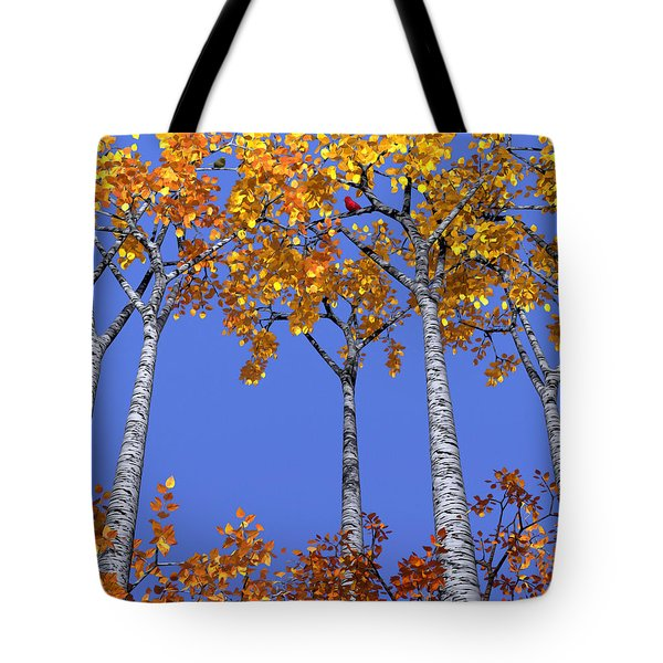 Birch Grove Tote Bag by Cynthia Decker