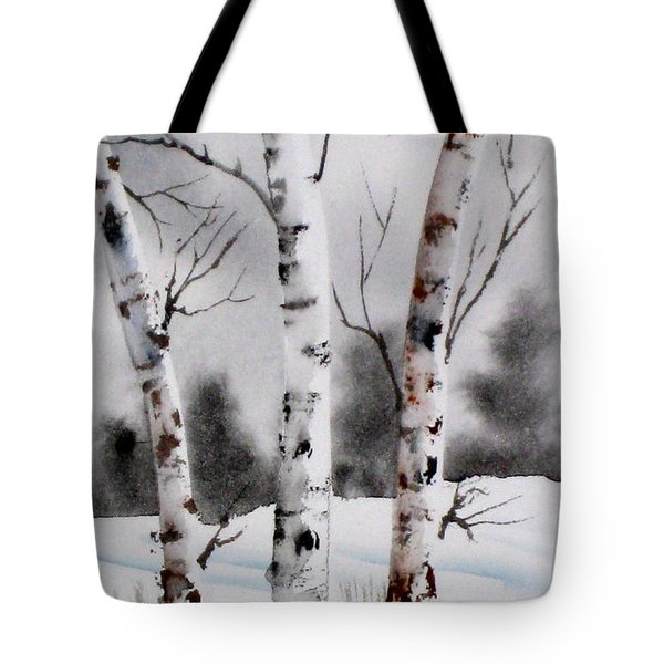 Birches Tote Bag by Mohamed Hirji