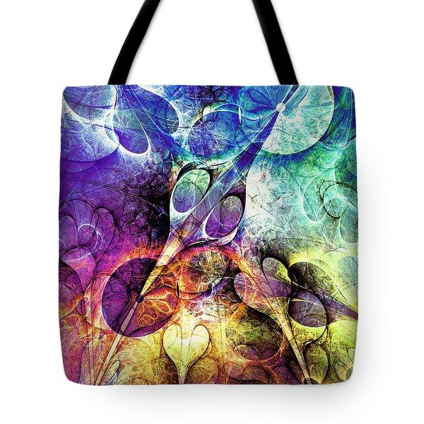 Bird And Flowers Tote Bag by Anastasiya Malakhova