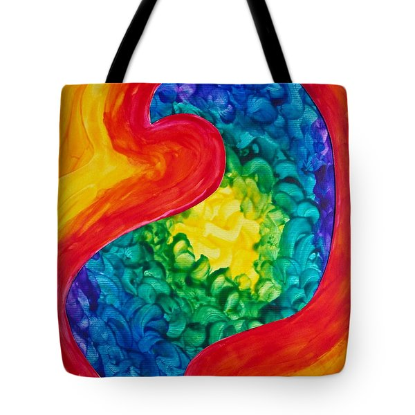Bird Form II Tote Bag by Michele Myers