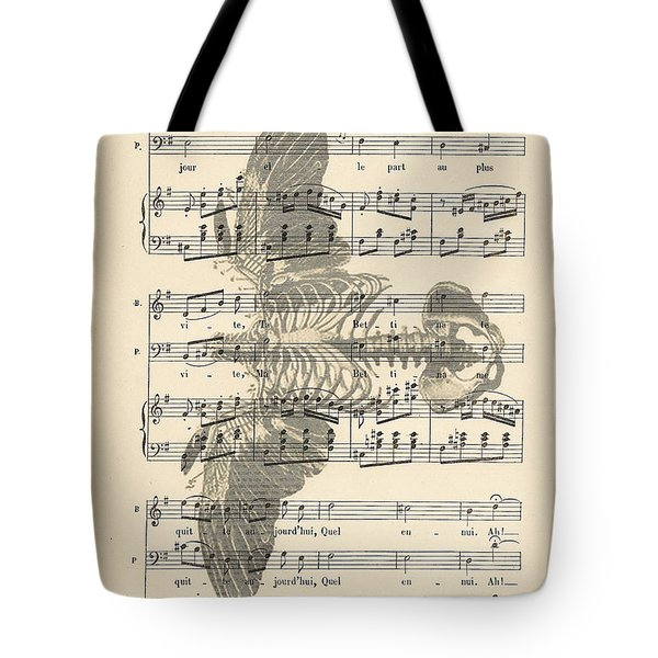 Bird Music Tote Bag by Nomad Art And  Design