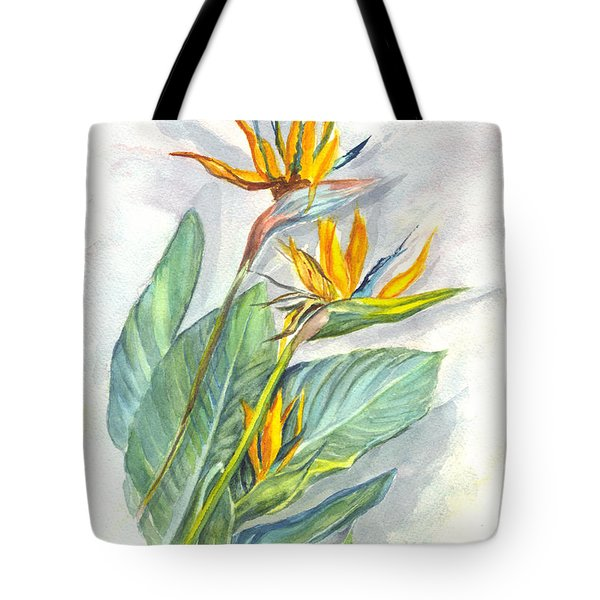 Bird Of Paradise Tote Bag by Carol Wisniewski
