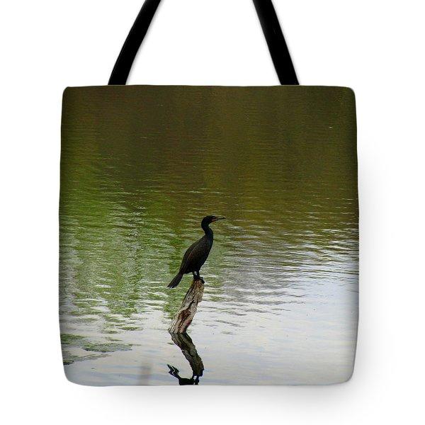 Bird On The Lake Tote Bag by Avis  Noelle