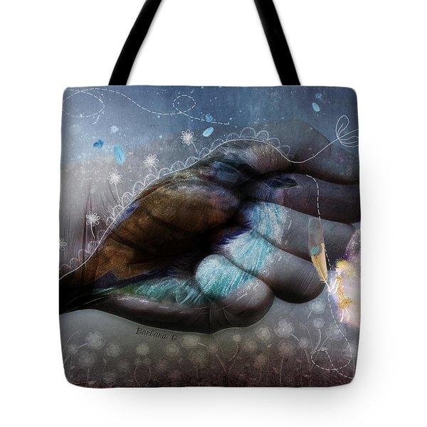 Birdie Paintress Tote Bag by Barbara Orenya