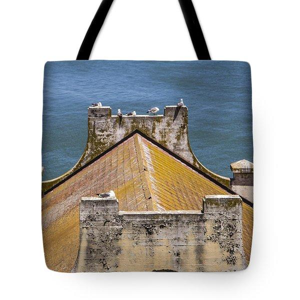 Birds at Alcatraz Tote Bag by John McGraw