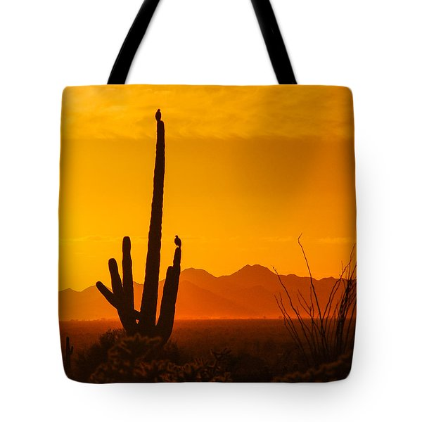 Birds In Silhouette Tote Bag by Penny Lisowski