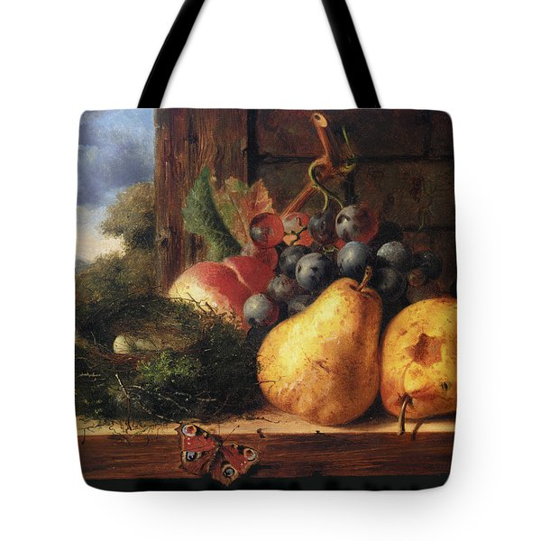 Birds Nest Butterfly And Fruit Tote Bag by Edward Ladell