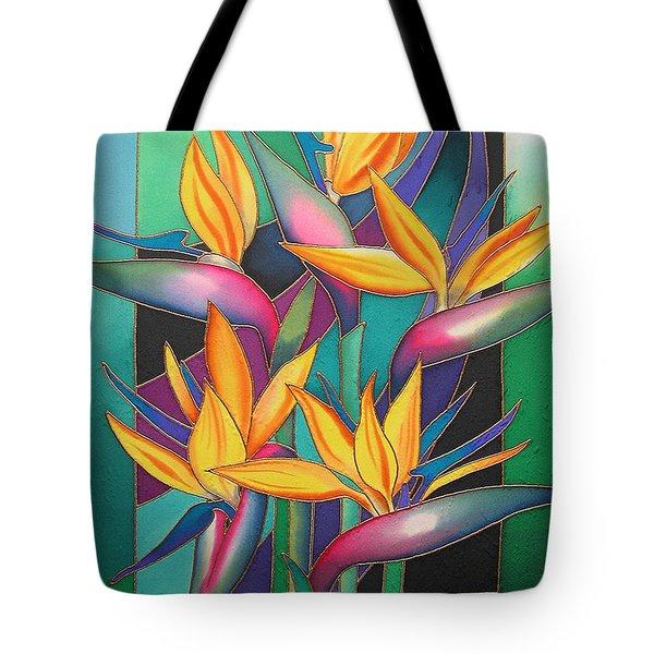 Birds Of Paradise Tote Bag by Maria Rova