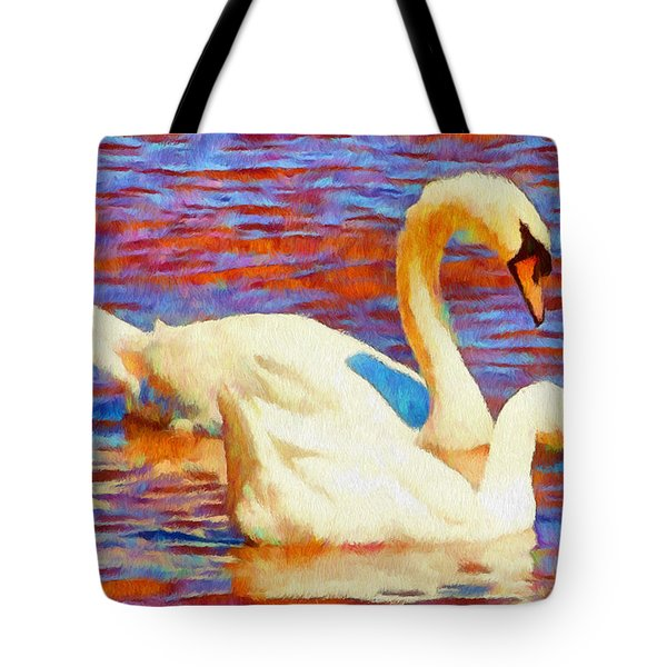Birds on the Lake Tote Bag by Jeff Kolker