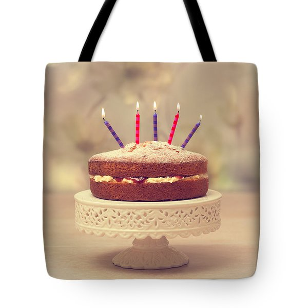 Birthday Cake Tote Bag by Amanda And Christopher Elwell