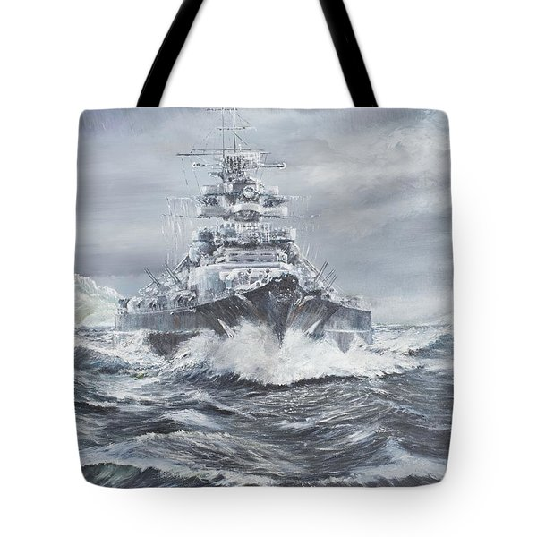 Bismarck Off Greenland Coast  Tote Bag by Vincent Alexander Booth