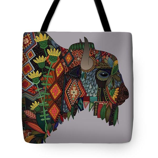 Bison Heather Tote Bag by Sharon Turner