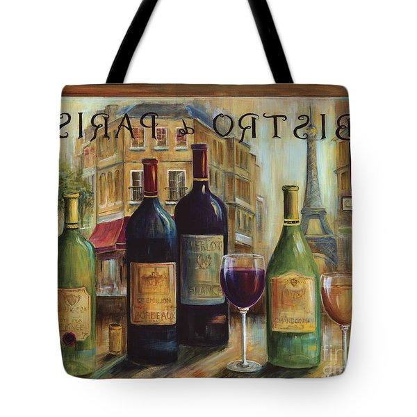 Bistro De Paris Tote Bag by Marilyn Dunlap
