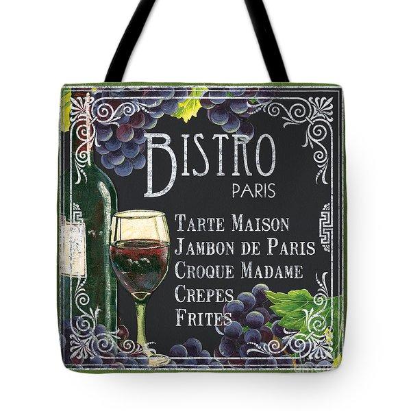 Bistro Paris Tote Bag by Debbie DeWitt