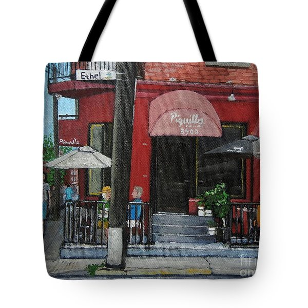 Bistro Piquillo In Verdun Tote Bag by Reb Frost