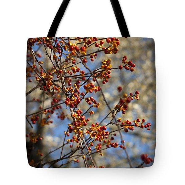 Bittersweet Vertical Tote Bag by Teresa Mucha