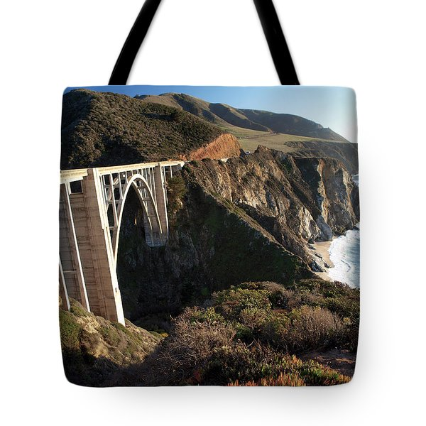 Bixby Bridge Afternoon Tote Bag by Joe Schofield