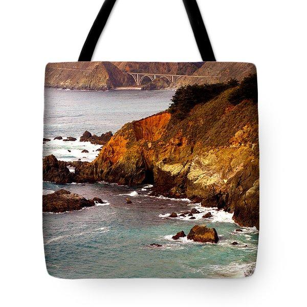 Bixby Bridge of Big Sur California Tote Bag by Barbara Snyder