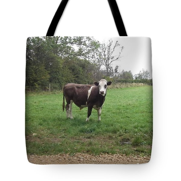 Black And White Bull Tote Bag by John Williams