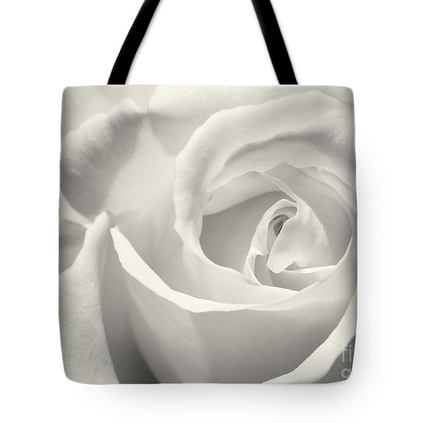 Black And White Curves Tote Bag by Sabrina L Ryan
