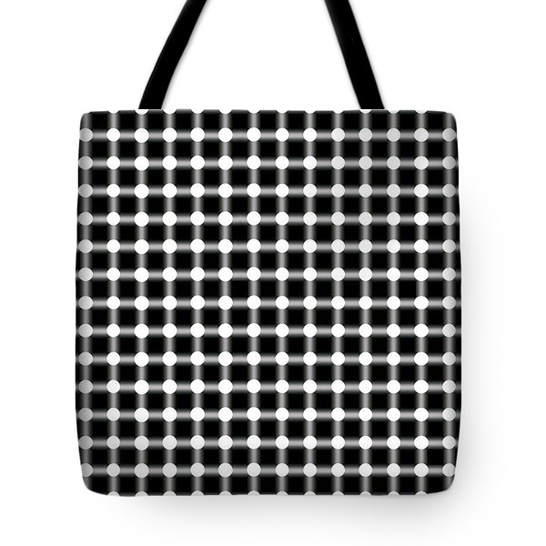 BLACK and WHITE DOTS Tote Bag by Daniel Hagerman