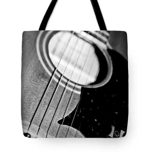 Black And White Harmony Guitar Tote Bag by Athena Mckinzie