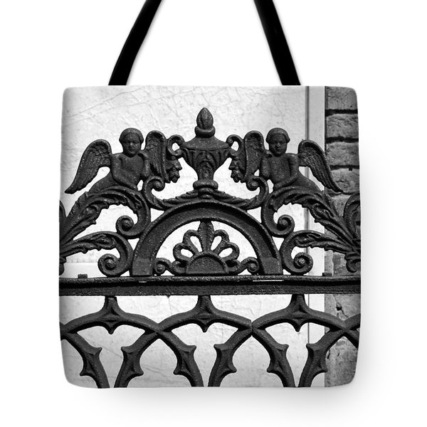Black and White Ironwork Tote Bag by Alys Caviness-Gober