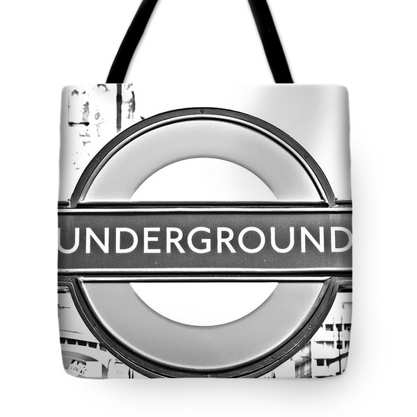 Black And White Underground Tote Bag by Georgia Fowler
