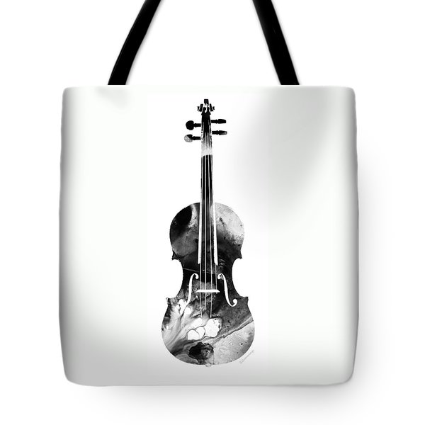 Black And White Violin Art By Sharon Cummings Tote Bag by Sharon Cummings
