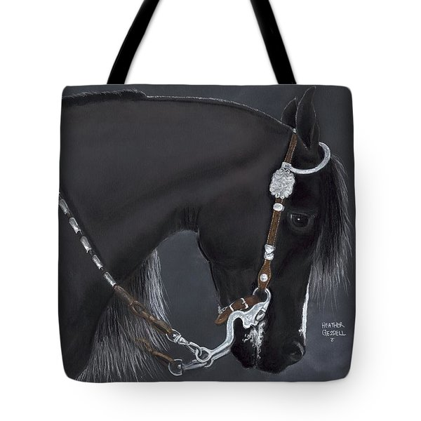 Black Arabian Tote Bag by Heather Gessell