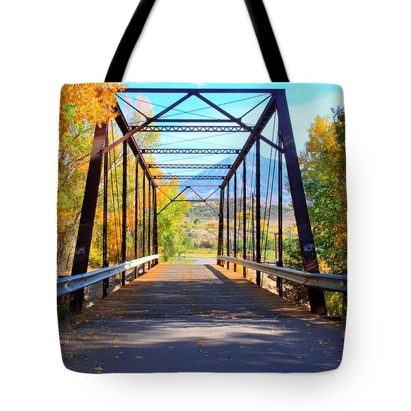 Black Bridge Tote Bag by Bob Hislop