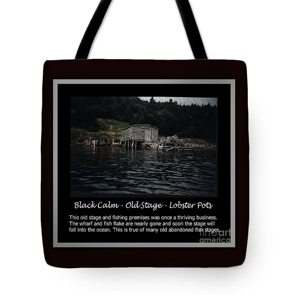 Black Calm - Old Stage - Lobster Pots Tote Bag by Barbara Griffin