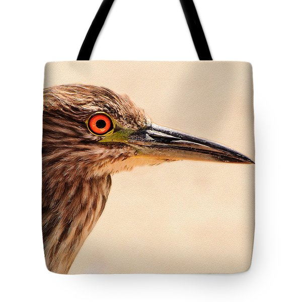 Black Crowned Night Heron 4 Tote Bag by  Bob and Nadine Johnston