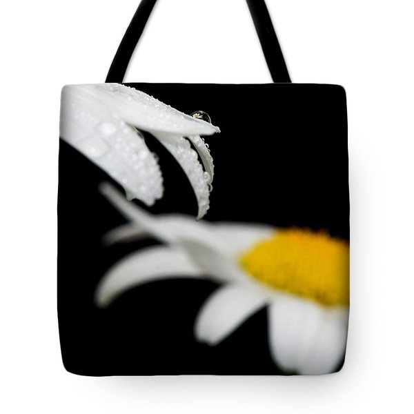 Black Daisy Reflection Tote Bag by Lisa Knechtel