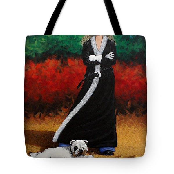 Black Eyed Bully Tote Bag by Lance Headlee