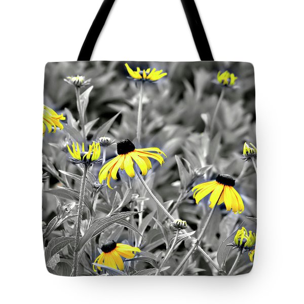 Black-eyed Susan Field Tote Bag by Carolyn Marshall