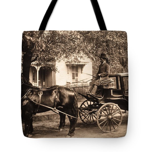 Black family in buggy Tote Bag by Paul W Faust -  Impressions of Light