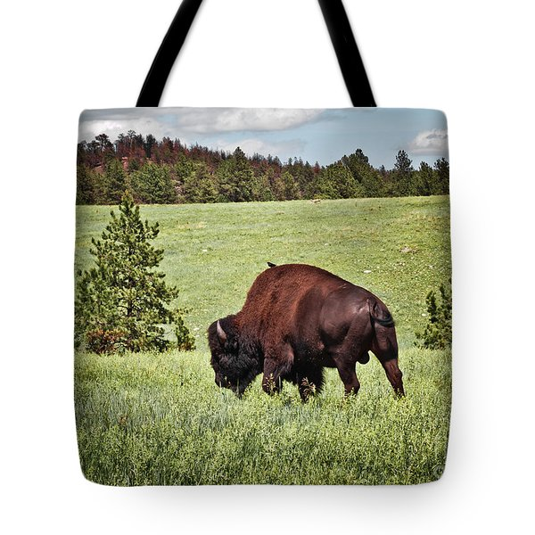 Black Hills Bull Bison Tote Bag by Robert Frederick