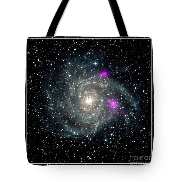 Black Holes In Spiral Galaxy Nasa Tote Bag by Rose Santuci-Sofranko